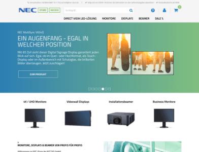 NEX Store Webseite