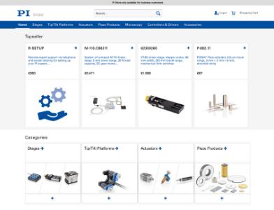 Physikinstrumente Webseite