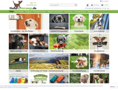 Hund-unterwegs.de Webseite