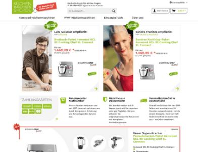 Küchenmaschinenshop.de Webseite