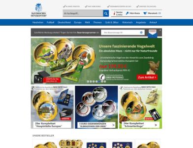 Bayerischer Münzkontor Webseite