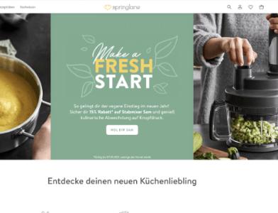 Springlane Webseite