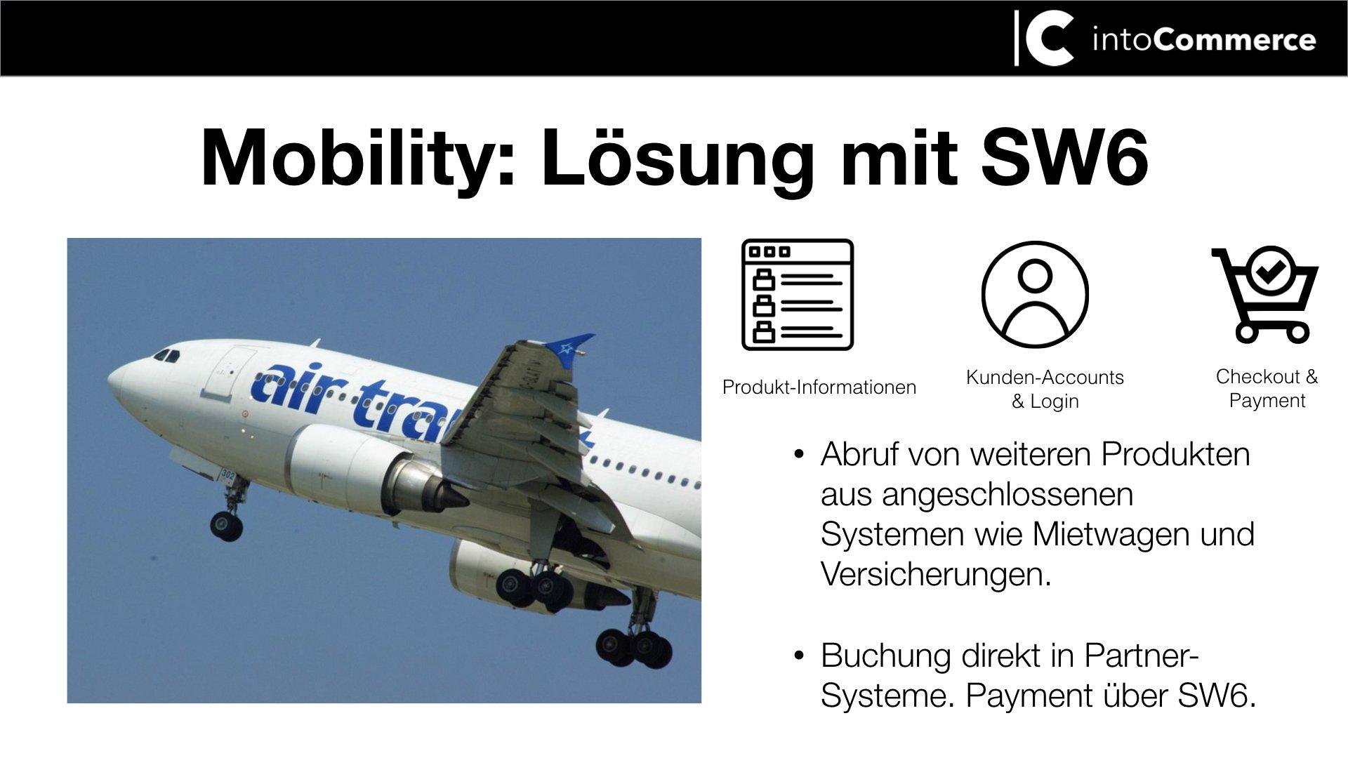 fliegendes Flugzeug titel Mobility mit SW6