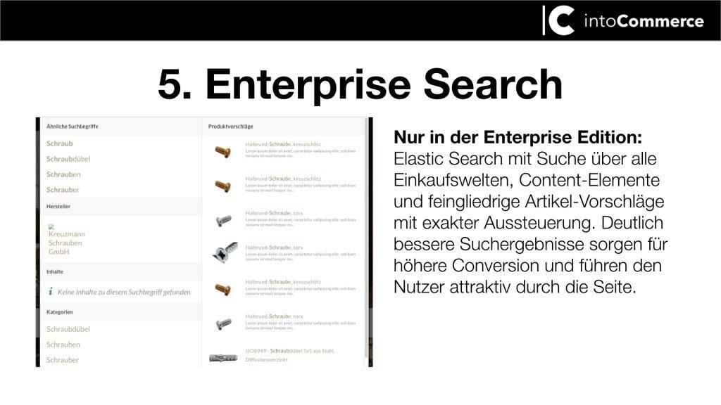Screenshot zu enterprise Search Läsung